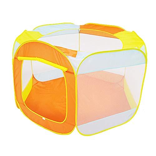 Kinderspielzelt Kinderspielzeug Kinder Farbe Ocean Ball Pool Spiel Toy House Indoor oder Outdoor und Spiel Zelt Spielen Tunnelzelt (Farbe : Orange)