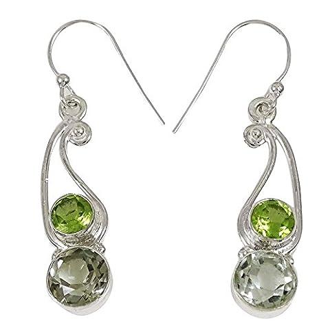 925 Sterling Silver Dangle Earrings Indian Fashion Earrings Gift For Her