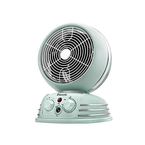 Radiateurs électriques CJC Électrique Chaufferettes Ventilateur Portable 2000W Mini Intérieur Ajustable Thermostat Timing Une Fonction Accueil Bureau (Couleur : Bleu)