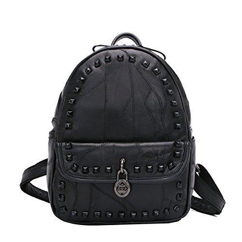 College Wind Einfache Normallacktasche Handtaschen Black