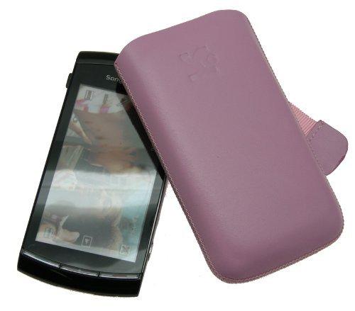 Suncase Custodia in pelle per Sony Ericsson Vivaz U5i, colore: Rosa