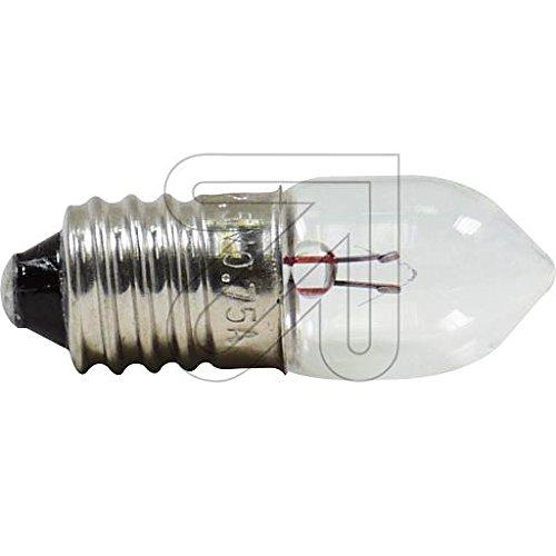 10 Stück Kryptonlampe E10 2,5V 0,75A Glühlampe Glühbirne (Klar Appliance Glühbirne)