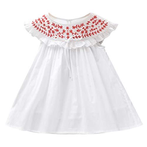 squarex Kleinkind Kind Baby Mädchen Sommer Kleid Stickerei Rock ärmelloses Kleid Prinzessin Kleid Party Kleider Weste komfortabel (Jean Röcke Junioren)