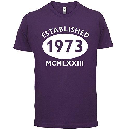 Gegründet 1973 Römische Ziffern - 44 Geburtstag - Herren T-Shirt - 13 Farben Lila