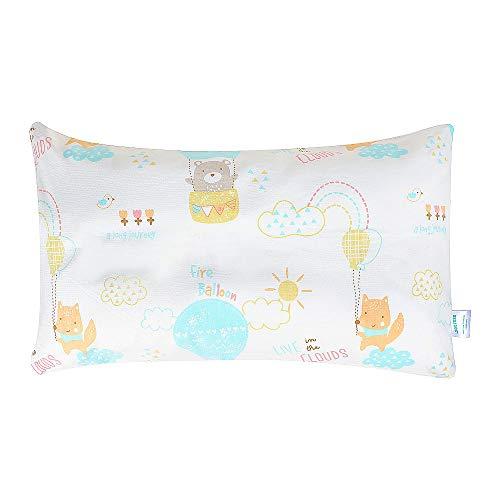 Yoofoss Kissen Kinder Kopfkissen Schlafkissen Handwaschbar Kleinkinder ab 1 Jahre Nackenschutz gegen Allergie Milbenschutz mit Kissenbezug weiß