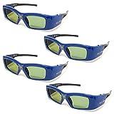 FAMILYPACK 4 Stück VIDIMENSIO® DLP Pro 7G - 3D Brille