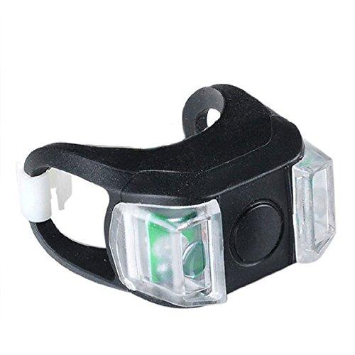 nicedier Bike Licht, Super Bright vorne und hinten Silikon LED Fahrrad Licht Set Fahrrad Scheinwerfer und Rücklicht Schwarz