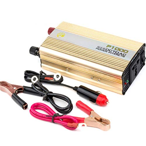 Hyzbpp Neue Tragbare 1000 Watt Auto Wechselrichter DC 12 V Zu AC 220 V Ladegerät Konverter Transformator WithPlug Kabel -