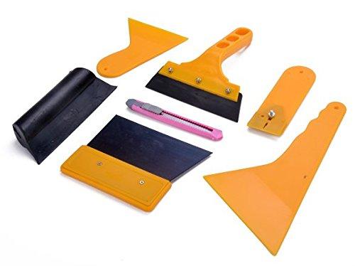 Hikenn 7pcs Autofenster Folien Werkzeug Rakel Set Tönungsfolie Sonnenschutz Folie Montage Abziehen Werkzeug