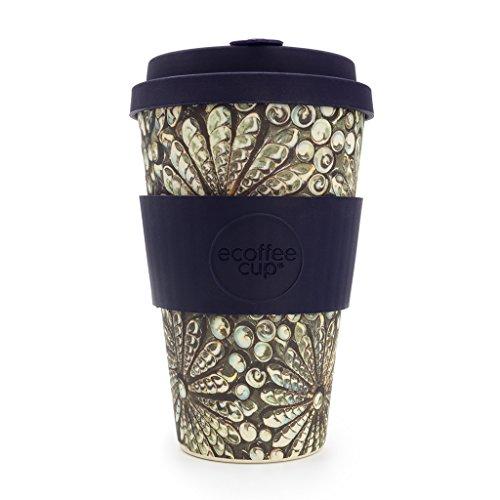 Ecoffee Cup Kai Leho Grau, Multicolor, Violett Kaffeepads, Tasse/Becher (Kaffee, Solo, 0,4 l, Grau, Mehrfarbig, Violett, Bambusfaser, 1 Stück
