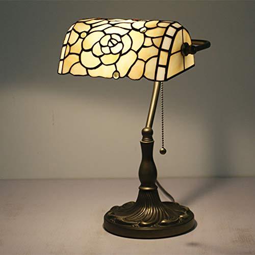 Tiffany Bankers Schreibtischlampe Vintage Glasmalerei Tischlampe für Büro & Zuhause TBD-004 -