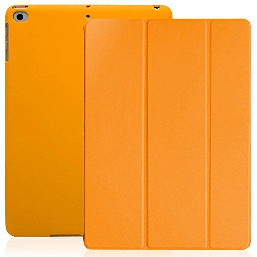 KHOMO iPad 9.7 Zoll Case Hülle 2018, 2017 Orangenes Gehäuse mit Doppeltem Schutz Ultra Dunn und Super Leicht Smart Cover Schutzhülle Nur für 2018 und 2017 Versionen Apple iPad 9.7 - Orange