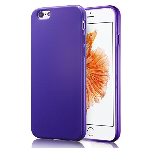iPhone 6s Hülle, technext 020 Apple iphone 6S Silikon Schutzhülle, Ultra Slim Gloss Gel Stoßstange iPhone 6 Fall TPU Stoßfänger, Lavendel violett