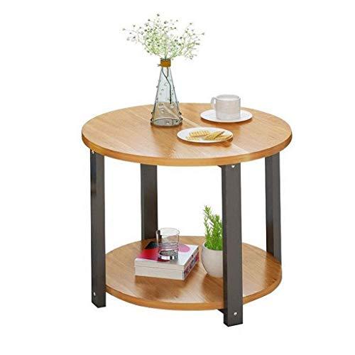 L.TSA Couchtisch Beistelltische Kleine runde Tischlampe Pflanze Hoch Kaffee Wein Flur Möbel, Schlafzimmer Nachttisch (Größe: 60cm) -
