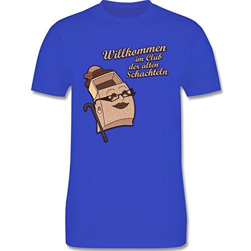 Geburtstag - Willkommen im Club der alten Schachteln - Herren Premium T-Shirt Royalblau