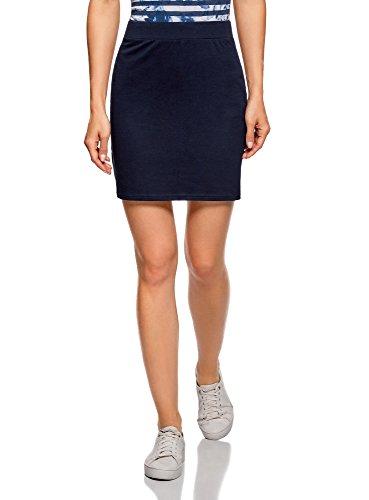 oodji Ultra Damen Jersey-Rock Basic, Blau, DE 36 / EU 38 / S