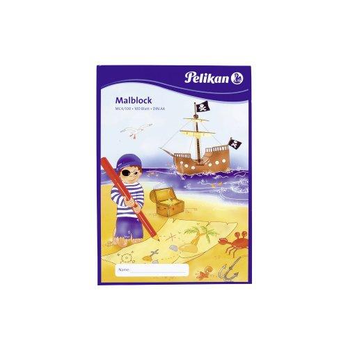 Preisvergleich Produktbild Pelikan Malblock DIN A4 / 100 Blatt VE=1 (Chlorfrei, 70 g/m²)