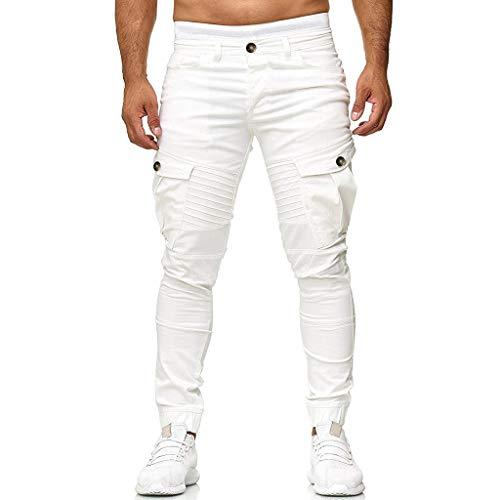 erren Nehmen Beiläufige Sport Gesponnene Taschen-Nähfuß-Hosen der Reinen Farbe Sporthosen ()