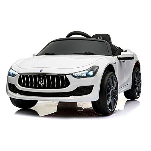 Maserati Macchina Elettrica per Bambini 12V Ghibli Bianca