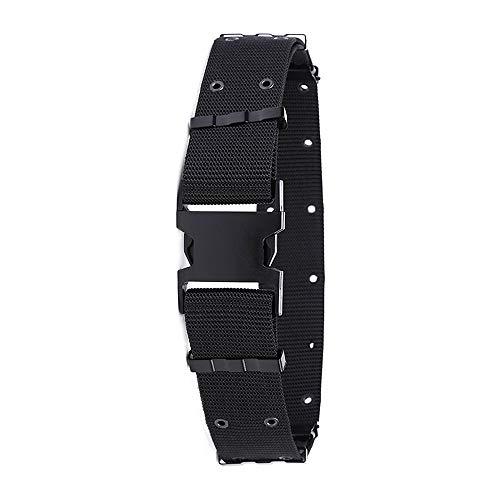 Bocotoer Verstellbarer Sicherheitsgürtel für den Außenbereich, strapazierfähig, Kunststoffschnalle, für Wandern, Klettern, Schwarz -