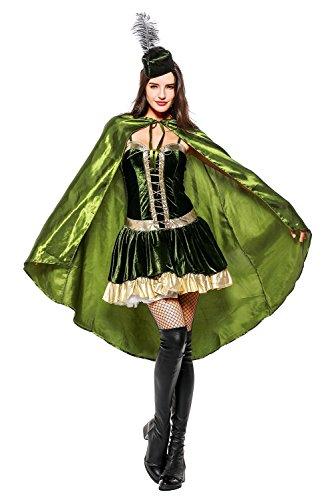 Sexy Superheldin Kleid Kostüm Faschingskostüm Cosplay Damen Grün XL