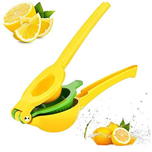 Zitronenpresse, Edelstahl, Zitronenpresse, Zitronenorange, Limettenpresse, Handpresse gelb