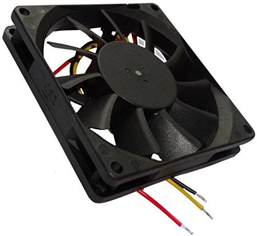 AERZETIX: Ventilateur pour boîtier 24V 80x80x15mm 62,86m3/h 34,7dBA 3000rpm 2.21W 0.092A Vapo 3 fils 24AWG C145450