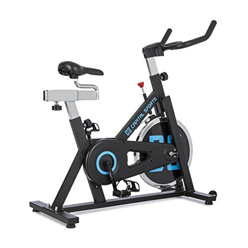 Capital Sports Spinnado X13 • Indoor Bike • Fahrradergometer • Heimtrainer • Trainingsrad • bis 120 kg • inkl. Drehregler • verstellbarer Sattel • gewuchtete Schwungscheibe mit 13 kg • schwarz