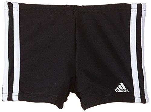 adidas Jungen Badehose 3-Streifen Bade Boxer Y, schwarz/weiß, 140, S22943