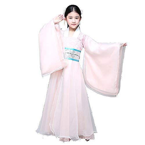 Chenyang86 Hanfu-chinesische alte Kostüme frische und Elegante chinesische Kleidung (Farbe : Pink, größe : 140cm)