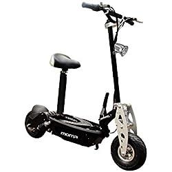 Moma Bikes Monopattino 1.000W Monopattino Elettrico 1000w, Pieghevole, Doppio Freno A Disco 40km/h, Black, Unic Size
