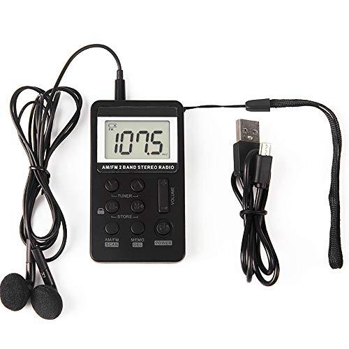 Audio- und Videoprodukte AM FM-Radio Mini-Taschenradio Tragbares AM FM-Stereoradio Digital-Tuning-Stereo Mit Kopfhörerempfänger LCD-Display USB Wiederaufladbar Für Den Außen- Und Innenbereich Geeignet