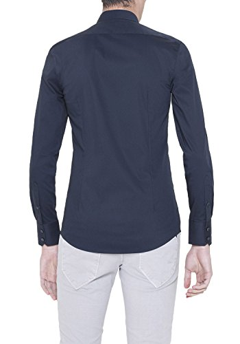 Antony morato MMSL00375 FA450001 Camicia Uomo Blue scuro