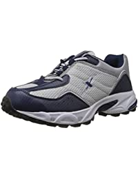 Sparx Men's Navy Blue and Silver Running Shoes - 9 UK (SM-04)