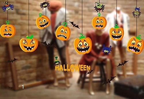 (In the Dream Halloween Fenster Aufkleber Dekor Aufkleber Happy Halloween Kunst Aufkleber Bar Party Glas statische Aufkleber (Farbe : 1))