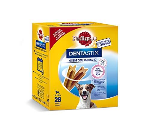 Pack de 28 Dentastix de uso diario para higiene oral para perros pequeños [Pack de 4] - Total 112