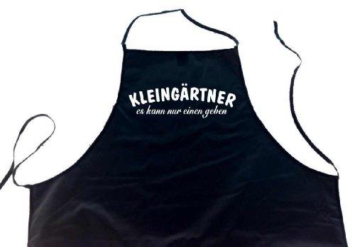 KLEINGÄRTNER - es kann nur einen geben; Garten Schürze (Latzschürze - Grillen, Kochen,...