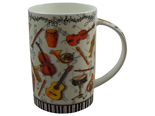 Cha Cult Becher Teebecher Vanessa Keramik Teetasse 350ml Gitarre Instrument