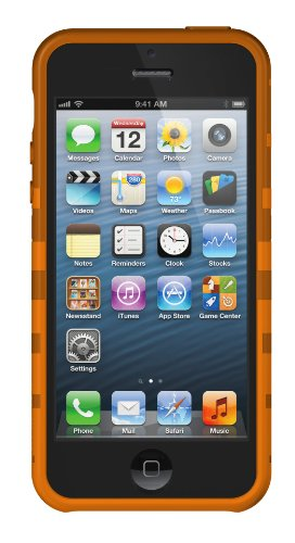 XtremeMac IPP-TWN-13 Tuffwrap Licorice Silikon-Schutzhülle für Apple iPhone 5 schwarz Orange