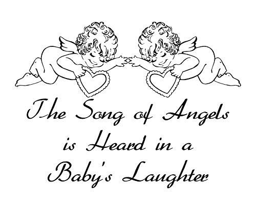 La Chanson des Anges de bébé Rire en Vinyle Chambre à Coucher Art Mural Autocollant, Taille L