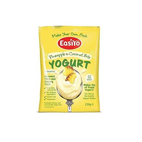Easiyo Ananas Kokos Bits Joghurt Mischen Beutel, 230g (Kokos-ananas-kuchen)