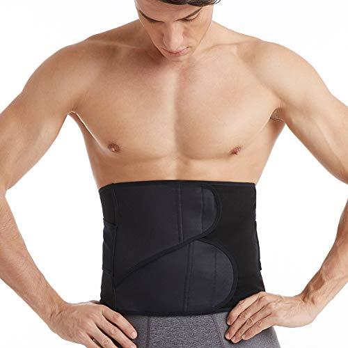 Picotee Fitnessgürtel Schweißgürtel Bauchweggürtel zur Fettverbrennung Schwitzgürtel Trainingsgürtel für Damen und Herren (L)