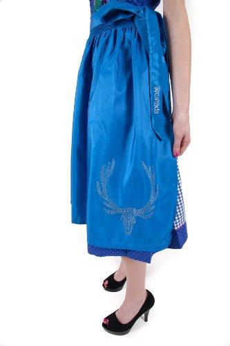 Dirndlschürze Trachtenschürze blau mit Swarovski veredelt Original GEWEIHDA Größe M