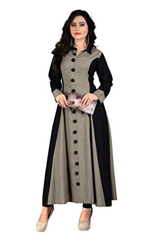 Madhuram Women's Rayon Party Wear Long Kurti (M-114 CM L)