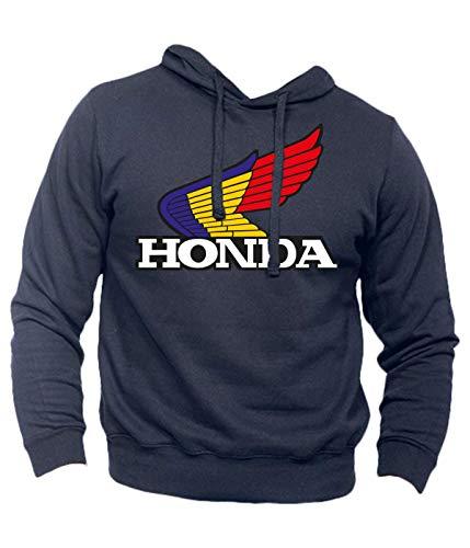 Felpa Honda NSR HRC Vintage Hoodie Freddy Spencer Moto Bike Race Racing (S, Blu Navy)