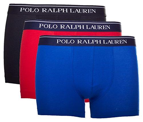 Polo Ralph Lauren 3er Pack Herren Boxer Shorts (XXL, Schwarz/Rot/Blau) (Lauren Ralph Boxer-shorts)
