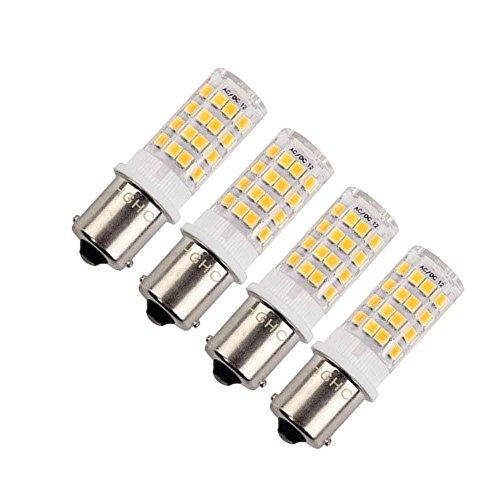 Ba15s LED Birne 5W AC/DC 10-18V Warmweiß 3000K Bajonett Single Kontakt Punkt für Camper Licht, für schiffe, RV, autos, outdoor landschaft beleuchtung, etc. (4 packs) (Warm White)