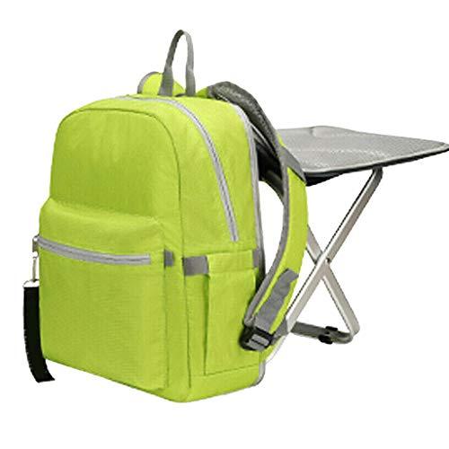 Hengzi Camping Travel Klappstuhl Rucksack tragbare Outdoor-Hocker Tasche wasserdicht (Grün)