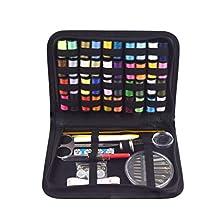 Floridivy 128pcs Naaisetje knoppen Scissor Maatregelenband Thimbles naalddraad Set handquilten Hechten Embroidery Gereedschap