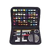 Uokoki 128pcs Cucito dei Tasti del Kit Scissor Misura di Nastro ditali Filetto AGO Set Utensili a Mano Quilting Stitching Ricamo